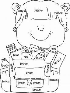 great for learning colors school coloring pages