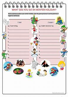 winter vacation esl worksheets 19994 what did you do in winter worksheet free esl printable worksheets made by teachers