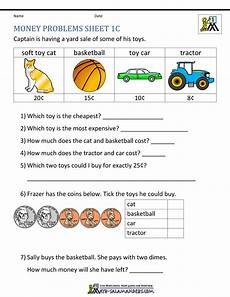 money math worksheets word problems 2388 money worksheets for grade