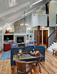 Decorating Ideas For Vaulted Ceiling Living Rooms by Vaulted Living Room Rustic Living Room Minneapolis
