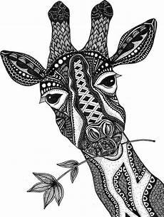giraffe print zentangle giraffe drawing prints black