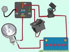 car spotlight wiring diagram how to install spotlights your vehicle 15 steps