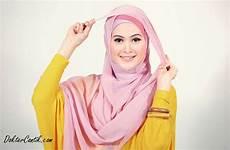 Jilbab Cara Memakai Jilbab Segi Empat Untuk Wajah Bulat