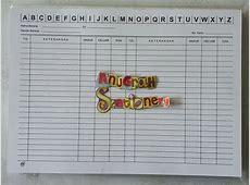 Jual kartu stok/stock/kartu persediaan barang ukuran folio
