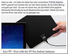 Tvfox Antenne Nicht Bestellen Mimikama