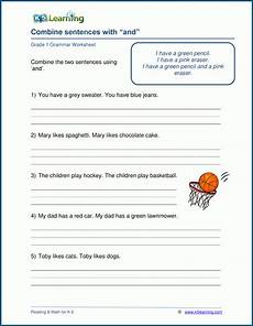 grade 1 sentences worksheets k5 learning
