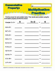 multiplication commutative property worksheets for 3rd grade