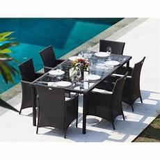 cdiscount table de jardin bora ensemble table de jardin 6 places en r 233 sine tress 233 e