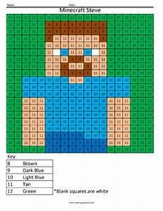 minecraft steve color by number math coloring minecraft pinterest coloring minecraft and