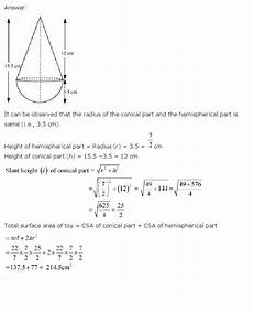 ch 13 surface areas and volumes maths class 10 ncert