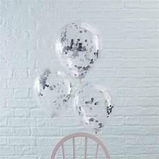 ballons mit konfetti ballons mit konfetti silber 5 st weddix de