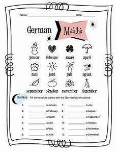 german worksheets 19630 german months of the year worksheet packet by side up resources