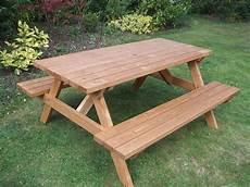 Holzbank Mit Tisch - wooden a frame picnic bench 4 seater e timber products