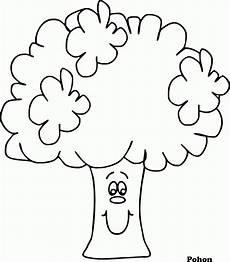 Mewarnai Gambar Pohon Versi Kartun Contoh Anak Paud