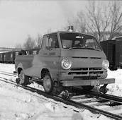 Central Vermont Railway Dodge Light Truck Adapted To Run