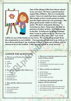 reading comprehension worksheets for beginners 19203 reading comprehension for beginner and elementary students 5 esl worksheet by rambertico