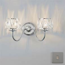 waldor chrome effect single wall light departments diy at b q