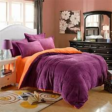 wholesale winner bedding set velour velvet warm bed set fleece flannel solid color high quality