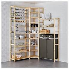 ivar 3 section shelving unit with cabinets best ikea