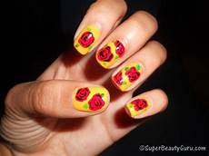 how to create a simple rose nail design on your nails
