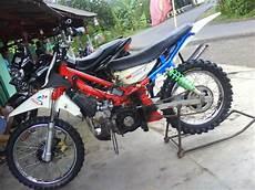 Modif Motor Trail Murah by Modifikasi Motor Bebek Jadi Trail Terbaru Klx Mini Dengan