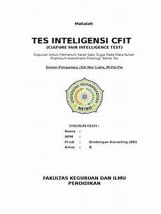 Cfit Culture Fair Intelligence Test 3