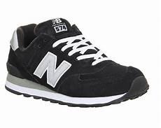 new balance 574 black grey his trainers