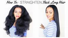 silk straightening natural hair how to straighten thick long natural hair fast silk press kaynaturals youtube