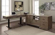 home office desk furniture midtown modular home office set w power lift desk parker