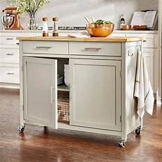 stylish freestanding kitchen islands carts in 2020 stylewell glenville grey kitchen cart with 2 drawers
