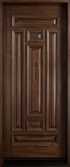 Single Door Doors by Front Door Custom Single Solid Wood With Walnut Finish