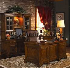 oak home office furniture rustic americana hardwood executive desk home office