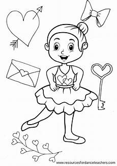 preschool ballet colouring pages value number 2