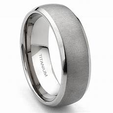 titanium 7mm brushed men s wedding band ring