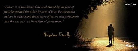 Power Is Of Two Kinds Gandhi Quotes Fb Cover