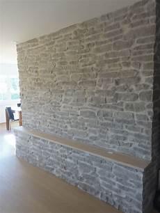 Wohnwand Stein Optik Lajas Gris Deckengestaltung