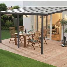 couverture de terrasse adoss 233 e tradition aluminium gris
