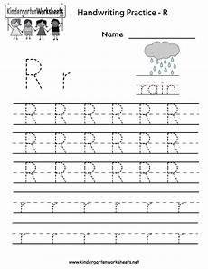 alphabet worksheets for pre kindergarten 23708 kindergarten letter r writing practice worksheet printable writing practice worksheets