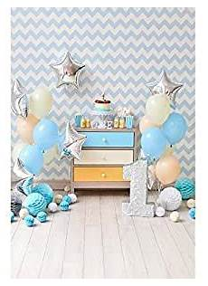 5x7ft Years Birthday Photo Backdrop Sequin by S 3077 Balloon Happy Birthday One Year