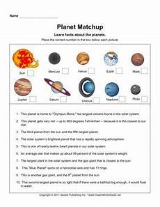 earth science solar system worksheets 13375 planet matchup instant worksheets earth and space science solar system unit pluto facts
