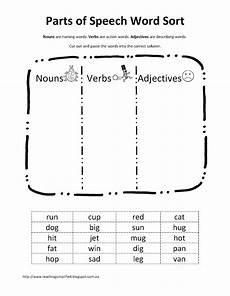 teaching simplified free download parts of speech word sort