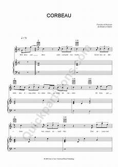 corbeau piano sheet music coeur de pirate coeur de