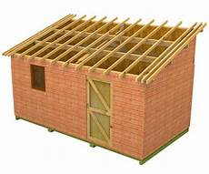 construire abri de jardin monopente monopente cabanon