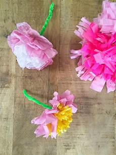Blume Basteln Kinder - tissue paper flowers babyccino daily tips children