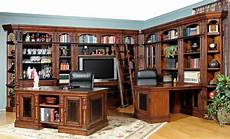 home office library furniture parker house leonardo library wall unit bookcase set 2 in