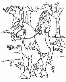 Malvorlage Pferd Prinzessin Princess Coloring Pages Disney