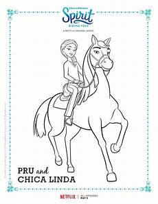 Spirit Malvorlagen Zum Ausdrucken Spirit Free Pru And Chica Coloring Page
