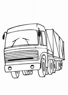 ausmalbilder lastwagen vorne transport malvorlagen