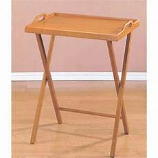 tray table wooden tv folding furniture snack drink serving