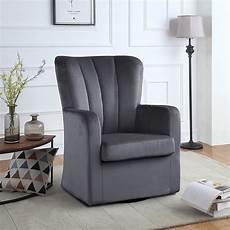 livingroom accent chairs modern velvet swivel armchair rotating accent chair for